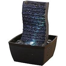 Zen'Light - Fuente de polirresina, 13x 12x 19cm, color negro