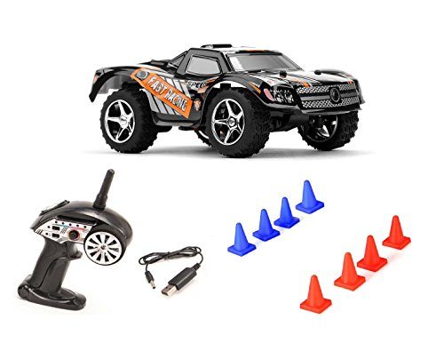 2.4GHZ UPGRADE-EDITION Off-Road 2WD mini RC ferngesteuerter Monstertruck Truggy, 2.4GHz Digital vollproportionale Steuerung Top-Speed bis zu 25 km/h, Komplett-Set RTR Rc Short Course Truck Rtr