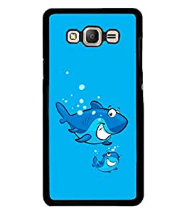 printtech Cartoon Shark Water Back Case Cover for Samsung Galaxy On7 Pro :: Samsung Galaxy On7