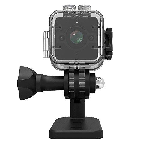 OXOQO SQ12 1080 P HD Mini Spion Kamera Versteckte Kamera mit 30 Meter Unterwassergehäuse Nachtsicht Motion DV Recorder (Bild-frame-kamera Spion)