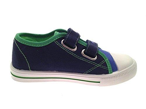 Tennis motif Tortues Ninja - tissu - garçon Baskets Scratch - Bleu/Vert