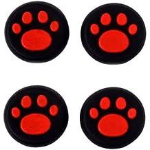 Fundas para las palancas de mandos de consolas de Canamite; 4piezas, rojo