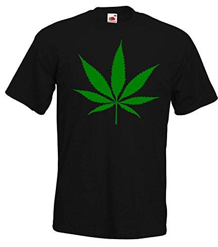 TRVPPY Herren T-Shirt Modell Cannabis Hanfblatt, Schwarz, M (Gras Trap)