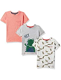 Mothercare Animal Print Boys T-Shirts (Pack of 3)