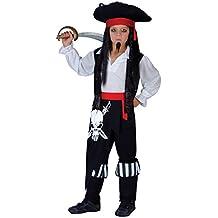 Disfraz para niños - Capitán Blackheart. Talla L: 8-10 años (134-146cm)