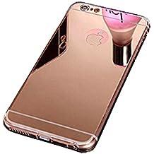 COOSA TPU flexible chapado en oro parachoques suave cubierta de la caja de la piel transparente para iPhone (IPHONE 6\6S, rosa oro)