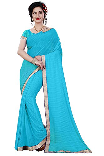 Fashion and Hub Other Saree With Blouse Piece (New Collection Sari F14_Sky...