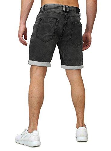 ddf063bf1f9a Sweat Jeans Denim Jogger Shorts Sommer Kurze Hose Sublevel 9886 dunkelblau  Dunkelgrau
