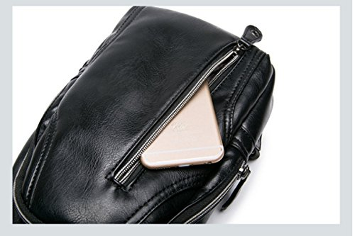 LAIDAYEPU Herren Outdoor Reiserucksack Business-Paket Umhängetasche Brustbeutel Black