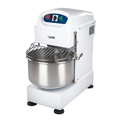 Royal Catering RCSM-20L Küchenmaschine Teigknetmaschine Rührmaschine (20l, 185 U/min Geschwindigkeit, Knethaken, 750W, 230V, Edelstahl) Weiß (Pizza Teig Maschine)