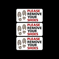 USSP&S 3x Please Remove your Shoes Sticker Sign - Mosque, Swimming Pool, House