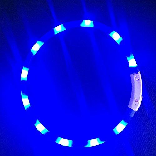 2-TECH LED Visio Leuchthalsband in BLAU für Hunde und Katzen universell kürzbar Deluxe 55 cm - 4