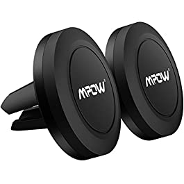 Magnetic Car Phone Holder, Mpow Magnetic Air Vent Phone Holder [2 Packs] Car Cradles Mounts for iPhone Xs MAX/XS/XR/X/8s/8/7/6 Plus, Samsung Galaxy S9/S8/S7, LG, Sony, GPS & Smartphones