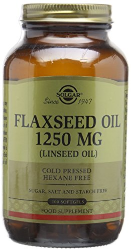 Solgar 1250 mg Flaxseed Oil Softgels - Pack of 100 Test