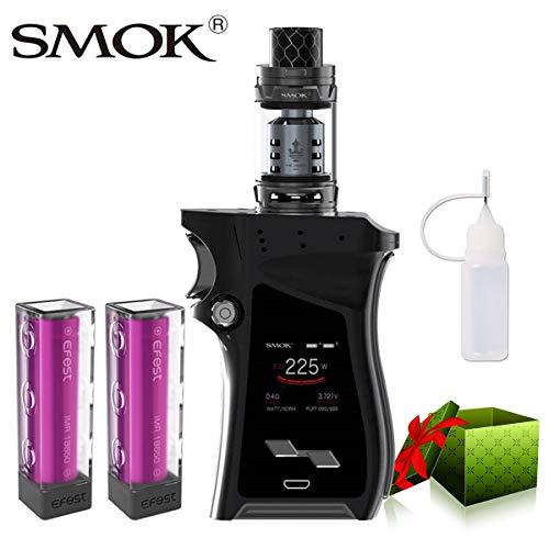 E Zigarette Starter Set Kein Nikotin, SMOK Mag Kit mit TFV12 Prince Tank, 225W E Shisha mit 2 * EFest-Akkus (Schwarz Gewehr Metall)