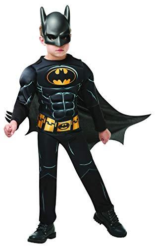 Fancy Ole - Jungen Boy Kinder Black Core Batman Deluxe Kostüm mit Einteiler, Umhang und Maske, perfekt für Karneval, Fasching und Fastnacht, 98-104, ()