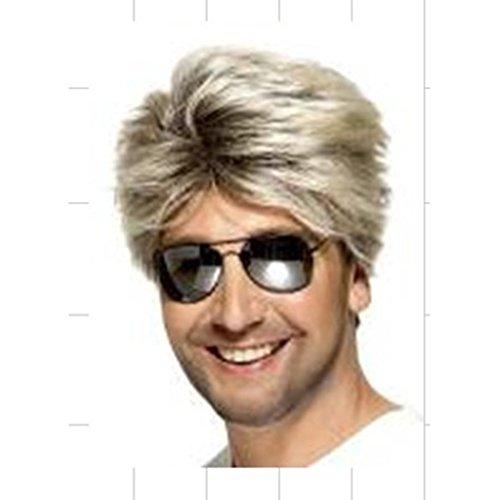 & Perücken Europäische und amerikanische Frisuren Männer Perücke flauschig Männlichen Perücke lebensechte kurze Haare Mode männlichen Haare Set Handsome Hochtemperatur-Draht ( Color : Brown , Size : 5cm/2inch ) (Männliche Halloween Kostüme Lange Haare)