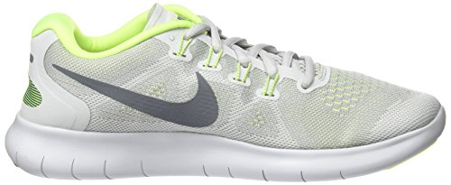 Nike Free Run 2017, Scarpe Running Donna Grigio (Wolf Grey/cool Grey-pure Platinum-volt)