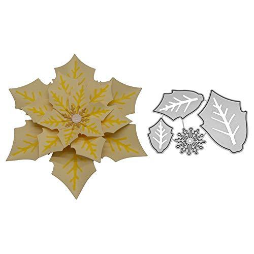 Lazzboy fustelle natale scrapbooking metallo stencil paper card craft per sizzix big shot/altre macchine(e, fiore-5)
