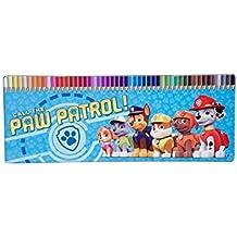 Caja Metal 50 Lapices Colores Patrulla Canina Paw Patrol