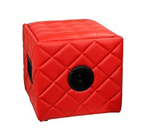 Soundlogic BS001_RD Bluetooth Ottoman Speaker (Red)