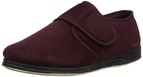 Padders Charles, Sans doublure Low-Top Chaussons homme Bordeaux (burgundy 81)