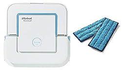 iRobot Braava jet 240 Wischroboter(für Küchen, Badezimmer und andere kleine Bereiche) weiß + GRATIS Braava jet waschbare Nasswischtücher (wiederverwendbar für die Bodenreinigung) dunkelblau 2 Stück