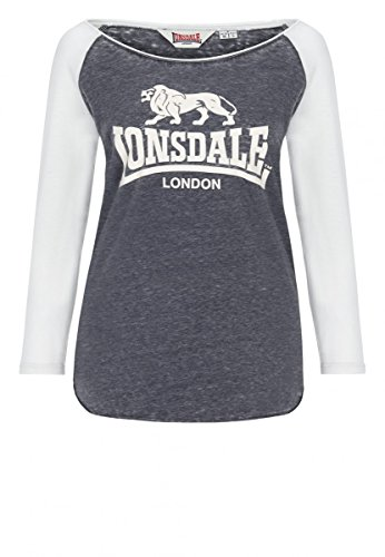 Lonsdale Ladies T-Shirt Longsleeve Ellesmere marl ash