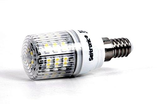 2er Set E14 LED Lampen von Seitronic mit 3 Watt, 260LM und 48LEDs – Kalt weiß 6500K, Ersetzt 45W, Kalt-Weiß – SMD LED Leuchtmittel – 160° Abstrahlwinkel