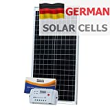 40W 12V Photonic Universe solar charging kit made of German solar cells with 10A controller and 5m cable for 12V battery or battery bank
