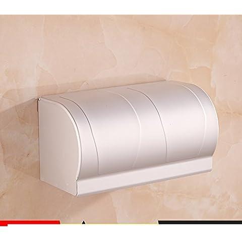 Spazio alluminio carta velina titolare/Tessuti/Box/Vassoio di servizi igienici bagno/ carta impermeabile-C