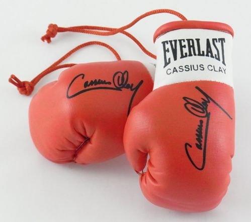 Signiert Mini Boxhandschuhe Cassius Clay