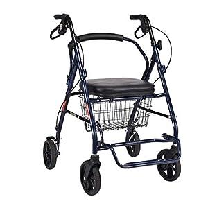 WZHWALKER Ältere Spaziergänger, Aluminiumlegierung Kann Tragbare Wagen Gefaltet Werden, Ältere Behinderte Gehhilfen