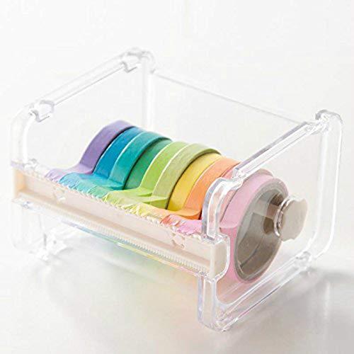 OneMoreT Tischbandabroller Washi Tape Cutter Multirolle Klebeband Halter Aufbewahrungsbox Organizer