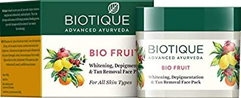 Biotique Bio Fruit Whitening And Depigmentation & Tan Removal Face Pack, 75g