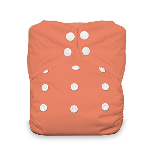 Thirsties Onesize AIO Komplettwindel SNAP (coral) -