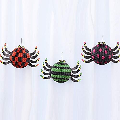 Pnteibo Halloween, Faltende Laterne des Kürbislichtpapiers, Dreidimensionale, Sehr Nette Form, Einfache Operation, Mehrfache Arten Und Größen, Farbiges Papier,Spider,S