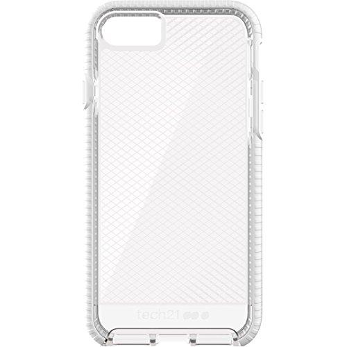 Tech21 Evo Check Hülle mit FlexShock Aufprallschutz für Apple iPhone 7 - Transparent/Weiß