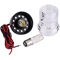 Qiilu 12V Marine Boat Yacht Navegación Todo Round 360 ° Blanco LED Ancla Luz Impermeable