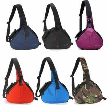 Bheema Fly-Leaf Fashion Shoulder Messenger Camera Case Bag Large Size - Purple