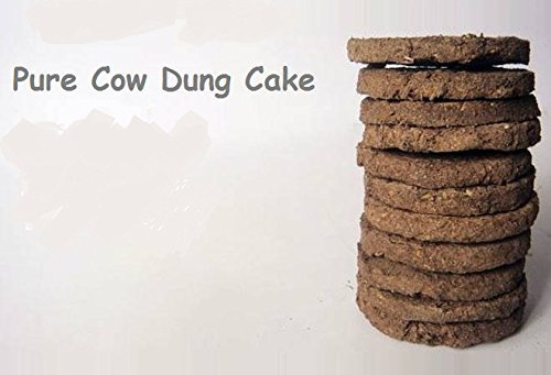Pure Cow Dung Cakes (Gobar Upla) for Hawan and Indian Rituals (4.00)