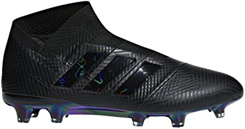 Bota de Fútbol Adidas Nemeziz 18+ FG Core Black-White