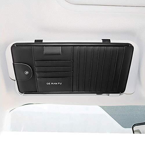 Mirage Auto Sonnenblende Veranstalter Bord Elektronische Zubehör-Speicher-Halter for alle Auto-Innenraum-Accessoires, Schwarz (Color : Black)
