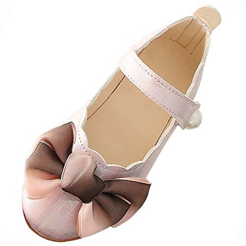 2b2adad6754 YWLINK Gradientes De Las NiñAs Arquean Los Zapatos Zapatos De Cuero De  Encaje Zapatos De Baile Zapatos Solos Moda Zapatos De Princesa  Antideslizante Fondo ...