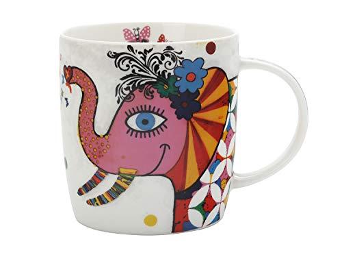 Maxwell & Williams DI0103 Smile Style Becher Princess, aus Porzellan, Mehrfarbig, 400 ml, in Geschenkbox