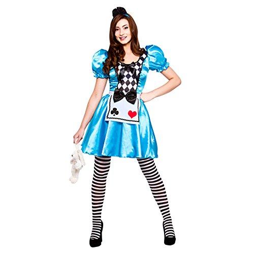 Storybook Alice Fairytale Ladies Fancy Dress Costume (Storybook Kostüme Alice)
