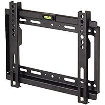 "Maclean - Mc-698 b - soporte fijo de pared para pantalla lcd led tv (17-37"", 35kg, vesa) color negro nivel incorporado"