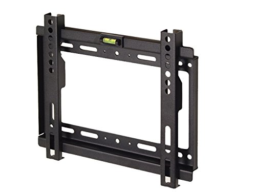 "Maclean - Mc-698 b - soporte fijo de pared para pantalla lcd led tv (17-37"", 35kg, vesa) color negro nivel incorporado"