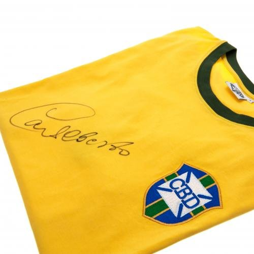 Carlos Alberto - Signed Brazil Shirt