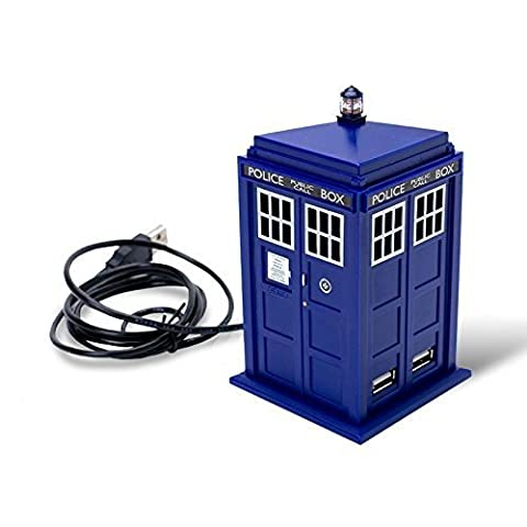 Doctor Who Tardis 4 Port Passive On-off Switch Light Effect Demo Button Usb Hub